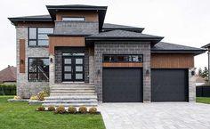 7 Modern House Plans Samples – Modern Home Contemporary House Plans, Modern House Plans, Modern House Design, Modern House Exteriors, Small House Plans, House Floor Plans, Hip Roof, Modern Mansion, Dream House Exterior