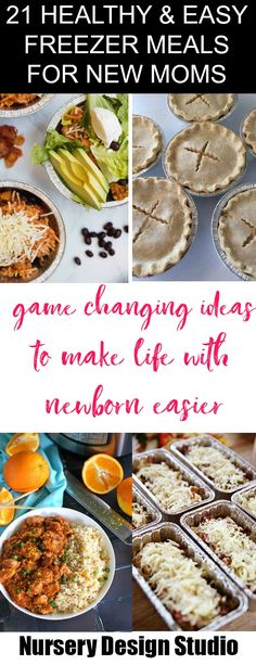 Today we are sharing 21 Healthy and Easy freezer meals for new moms so you can be prepared and have easy meals when taking care of the baby. Make Ahead Freezer Meals, Freezer Cooking, No Cook Meals, Easy Meals, Freezer Recipes, New Mom Meals, Baby Food Recipes, Healthy Recipes, Healthy Meals