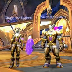Starting fresh: two brand-new Lightforged Dranei Paladins about to embark on their first adventure Paladin, World Of Warcraft, Iron Man, Brand New, Fresh, Adventure, Superhero, Fictional Characters, Instagram
