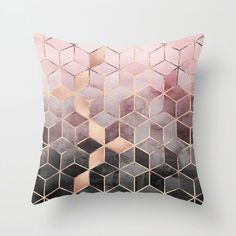 Buy Pink And Grey Gradient Cubes Throw Pillow by elisabethfredriksson. Worldwide shipping available at Society6.com. Just one of millions of high quality products available.