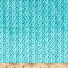 Shannon Minky Embossed Houndstooth Aruba from This ultra plush and cuddly fabric has a silky surface with star embossing and a pile. It is perfect for creating blankets, baby accessories, plush toys, and more! Minky Blanket, Minky Fabric, Baby Accessories, Emboss, Houndstooth, Fabric Design, Plush, Quilts, Sewing