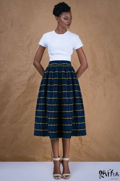 Raffia Clothing 2015 Capsule Collection Using Ghana's Northern Gonja Cloth #madeinafrica #skirt