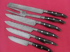 HANDMADE DAMASCUS STEEL Overall Length: 9 to 14 inches   Handle Material:  Handle made of Buffalo horn and mosaic pin   Blade Hardness: 56-60 HRC  THE BLADE  THIS IS A BRAND NEW KNIFE. THIS KNIFE DAM