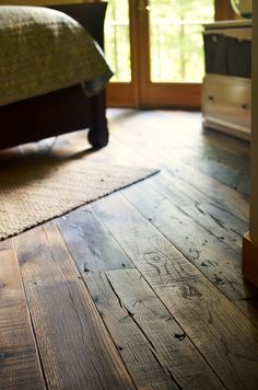 New Real Wood Floors Hardwood Planks Ideas Reclaimed Wood Floors, Diy Wood Floors, Diy Flooring, Wooden Flooring, Wood Paneling, Flooring Ideas, Rustic Hardwood Floors, Wood Planks, Wood Stain