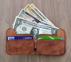 Manly Man's Leather Wallet by Scruffy Buffalo.