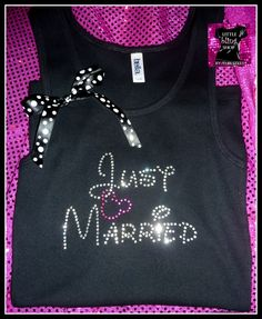 Just Married Disney Bride Tank Top Bride T by ReneesRhinestones1