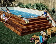 Home Discover Lap Pool and Spa Plans by Stevenson DIY In-ground Pool Build Your Own Lap Swimming Pool and Spa! Lap Swimming, Swimming Pool House, Swiming Pool, Gunite Pool, Backyard Pool Landscaping, Backyard Pool Designs, Small Backyard Landscaping, Backyard Ideas, Landscaping Ideas