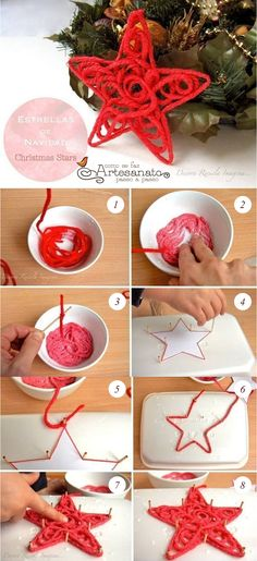 DIY Christmas Star christmas christmas crafts christmas decorations christmas crafts for kids christmas tree ornaments chistmas diy Diy Christmas Star, Diy Christmas Ornaments, Homemade Christmas, Christmas Projects, Kids Christmas, Holiday Crafts, Christmas Decorations, Tree Decorations, Ornaments Ideas