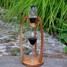 Wine Aerator Stand - Arches - Made of Mahogany - Great compliment for your Vinturi wine aerator.. $59.50, via Etsy.