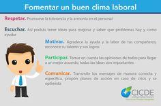 Fomentar un buen clima laboral #emprender, #infografía, #emprendedor