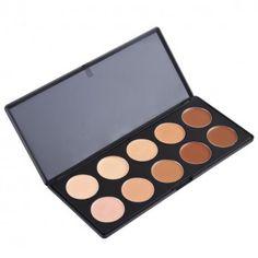 10 Colors Makeup Palette/Concealer Palette/ Face Contour Foundation Shading Powder Cosmetic Makeup Tool Kit for Women