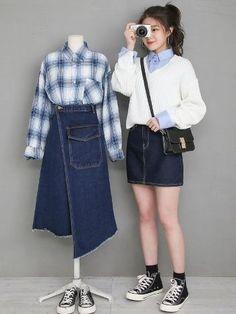 Korea Fashion, Pop Fashion, Asian Fashion, Girl Fashion, Fashion Outfits, Womens Fashion, Dope Outfits, Casual Outfits, Matching Outfits Best Friend