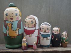 グリム童話「黄金のガチョウ」より。(抜作、娘1、娘2、牧師、百姓、王様、姫)ある所に3人の兄弟がいました。上の兄2人は利口者でしたが一番下の弟は少し頭が弱くて...|ハンドメイド、手作り、手仕事品の通販・販売・購入ならCreema。