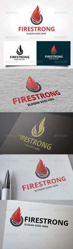 Fire Strong  - Logo Design Template Vector #logotype Download it here: http://graphicriver.net/item/fire-strong-logo/7087709?s_rank=931?ref=nexion