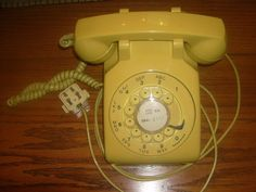 Yellow Telephone Northern Electric G3 Vintage with wall plug.