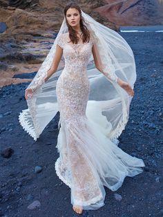 Galia Lahav short sleeve wedding dress
