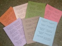 Marzano leveled questions, color-coded for easy student understanding.