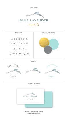 MISS POPPY DESIGN Logo and Branding for Blue Lavender Events || Branding | Design | Brand board |