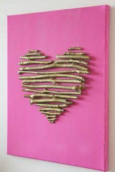valentine decorations 9992430397565615 - diy heart canvas Source by Valentines Bricolage, Valentine Day Crafts, Valentine Decorations, Be My Valentine, Heart Decorations, Diy And Crafts, Crafts For Kids, Arts And Crafts, Saint Valentin Diy