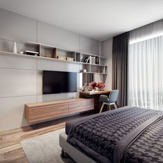 33 Awesome Modern Small Bedroom Design And Decor Ideas 33 Awesome Modern Small Bedroom Design And Decor IdeasIt used to be very difficult to get a decent small bedroom design but the times have c Bedroom Designs India, Small Bedroom Designs, Small Room Design, Modern Bedroom Design, Contemporary Bedroom, Modern House Design, Modern Interior Design, Contemporary Building, Modern Contemporary