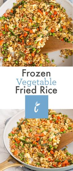 Frozen Vegetable Fried Rice - Inspiralized: healthy, veggie-forward recipes with a bit of motherhood realness.