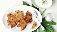 I v případě, že si hlídáte váhu, můžete si dopřát smažené placičky. Brambory nahraďte kedlubnou a smažte jen na trošce oleje. Tandoori Chicken, Ricotta, Cauliflower, Dip, Fresh, Meat, Vegetables, Ethnic Recipes, Food