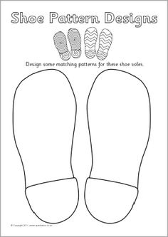 Shoe patterns design sheet (SB4997) - SparkleBox