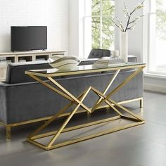 Looking for Point 59 Brushed Gold Metal Stainless Steel Console Table Gold ? Check out our picks for the Point 59 Brushed Gold Metal Stainless Steel Console Table Gold from the popular stores - all in one. Steel Furniture, Plywood Furniture, Sofa Furniture, Modern Furniture, Geometric Furniture, Hallway Console, Foyer, Entryway, Sofa Tables