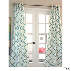 Morocco Flocked Faux Silk Grommet-top 96-inch Curtain Panel | Overstock™ Shopping - Great Deals on Curtains