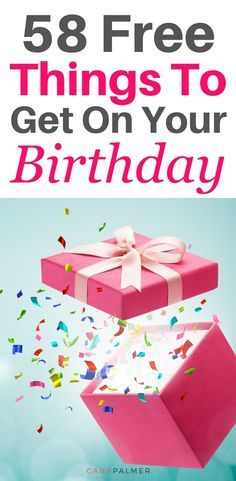 It's your birthday! Time to celebrate with some awesome birthday freebies! Here's a list of 58 merchants that offer free birthday stuff. Freebies On Your Birthday, Free On Your Birthday, Free Birthday Food, Free Birthday Gifts, Birthday Rewards, Birthday Coupons, Birthday Treats, Birthday Month, Special Birthday