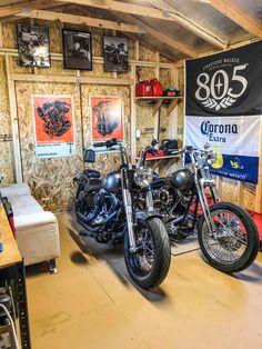 Tough Storage Made Easy – Tuff Shed - Garage Motorcycle Shed Ideas, Motorcycle Workshop, Motorcycle Shop, Motorcycle Garage, Man Cave Shed, Man Shed, Man Cave Room, Man Cave Garage, Motorbike Shed