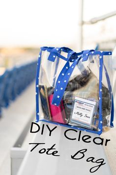Sew a Clear Bag - DIY Vinyl Stadium Tote - Melly Sews - DIY stadium clear bag using clear vinyl and bias tape with this tutorial – Melly Sews - Sewing Hacks, Sewing Tutorials, Sewing Tips, Tutorial Sewing, Purse Tutorial, Dress Tutorials, Sewing Patterns Free, Free Sewing, Clear Stadium Bag