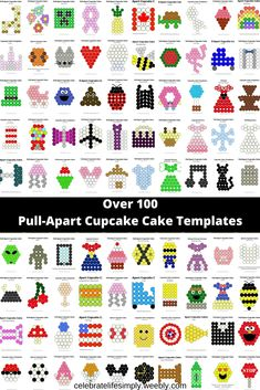 Beautiful Cake Decorating Templates with Over 100 Pull-Apart Cupcake Cake Templates Cupcake Cake Designs, Cake Decorating Designs, Creative Cake Decorating, Creative Cakes, Cupcake Cookies, Cupcake Ideas, Cupcake Icing Decorating, Cupcake Template, Cake Templates