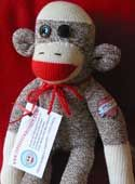 The original socks and pattern for making your own sock monkey.  Check out the other animals.