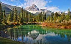 Naturaleza canada montañas bosque lago 12 x 18 20 x 30 24 x 36 32 x 48 pulgadas…