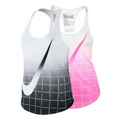 Dominate your opponent in style with the Nike Women's Contender Graphic Tennis Tank. This lightweight Dri-FIT fabric with its nonrestrictive fit feels comfortable as you move around the court. Its edgy racerback straps guarantee you are performance ready as it enhances your range of motion. Its nonrestrictive fit feels comfortable as you move around the court. Oversized swoosh gives tank a retro look. Technical Benefits: #nike #tanktops #newnike #tennis #spring