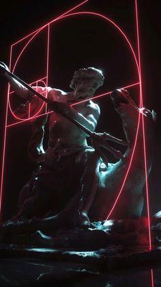 vaporwave ilustration Render Goals - Al - vaporwave Glitch Art, Glitch Kunst, Art Vaporwave, Vaporwave Wallpaper, Plakat Design, Greek Art, Photomontage, Aesthetic Art, Aesthetic Statue