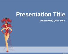 Carnival PowerPoint template is a free template that you can use for Carnival presentations but also for any dance presentation or vedette in PowerPoint