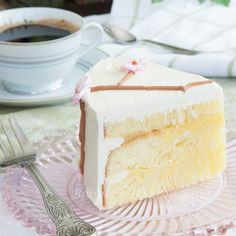 Springtime or Summertime, a cherry blossom cake satisfies the palate!