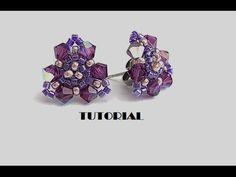 Tutorial | Orecchini Spring (orecchini a lobo con delica, rocailles e biconi). Link download: http://www.getlinkyoutube.com/watch?v=6aSKz74EXtM