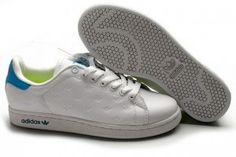 Commander Femme Adidas Stan Smith Chaussures Blanc Bleu Pas Cher Soldes France