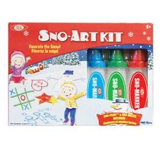 Sno Paint® Snow Art Star Mold Set - The ultimate kit for any artist who loves the snow! Imprint the pair of fun molds in the snow and color them in with the included Sno Markers and color packets!