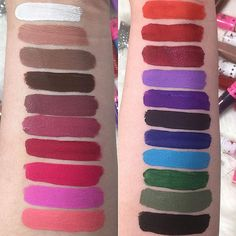 Velour Liquid Lipstick ($18) #swatch Jeffree Star Cosmetics - matte colors for lips and eyes
