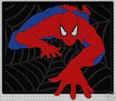 home crochet graph patterns cartoons spiderman spiderman crawl crochet ...