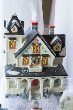 Hometalk :: Tips and Tutorial for Creating a Beautiful Christmas Village