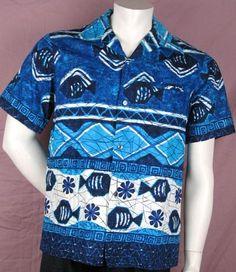 4ac7623da Vintage Waltah Clarke Aloha shirt Aloha Shirt