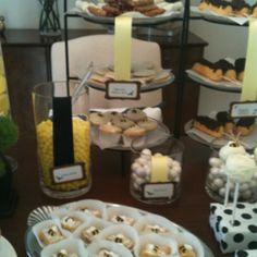 Bumble Bee Shower Dessert Bar #bumble #bee #candy #dessert #bar #lemon #cupcake #twinkle #cake pop  # party