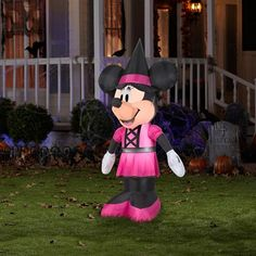 Disney Minnie Mouse 5 Ft. Tall Halloween Inflatable Yard Decor LED Light Self Inflates in Seconds