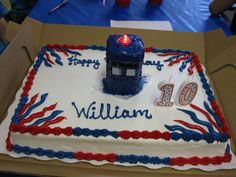 Many Hats of Me: Dr. Who Tardis and Giant Cupcake Birthday Cakes