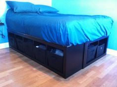 IKEA Hackers: bed frame out of shelves